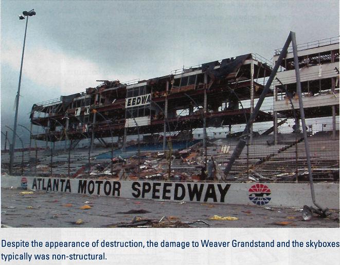 Atlanta Motor Speedway Skybox Damage