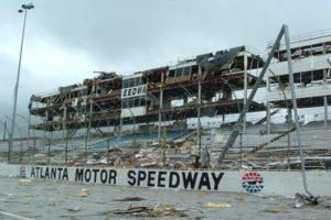 Atlanta Motor Speedway, Tornado Damage