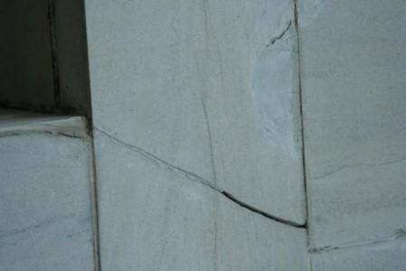 Horizontal Limestone Crack